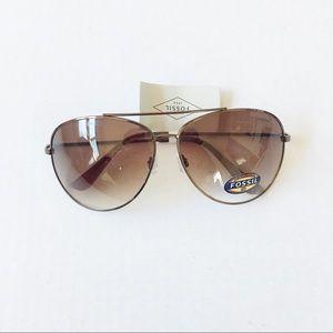 NEW Fossil Aviator Sunglasses